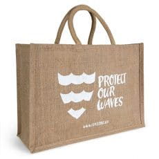 Protect Our Waves Jute bag