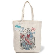 'For The Love Of Waves' organic canvas bag