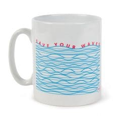 'Save Your Waves' ceramic tea mug