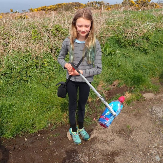 10-year-old activist May has been taking part in #ReturnToOffender on her daily walks.