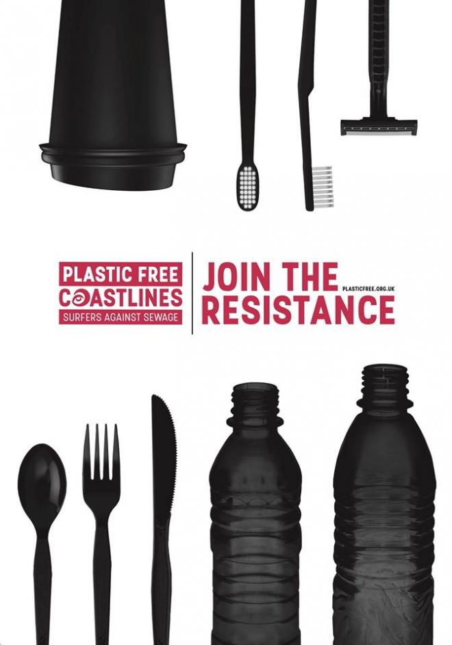 Plastic Free Coastlines Join the resistance poster