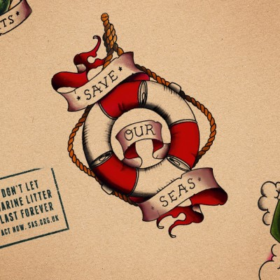 'Save Our Seas' Marine Litter Tattoo Campaign