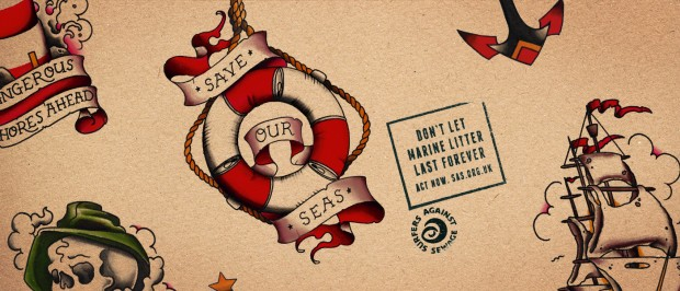 Marine Litter Tattoos Banner