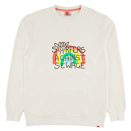 SURFERS AGAINST SEWAGE sweatshirt adults front