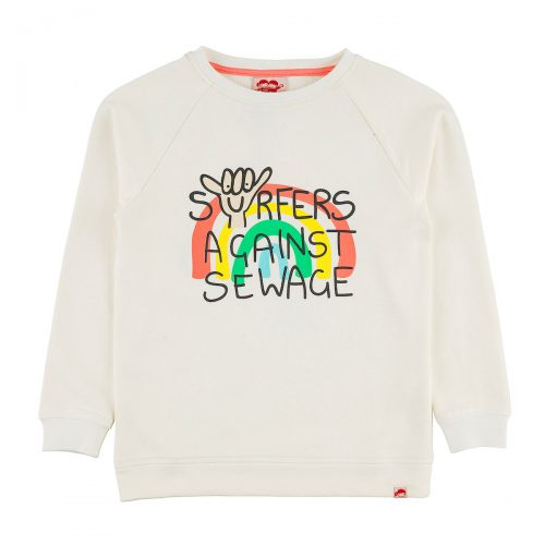 SURFERS AGAINST SEWAGE sweatshirt kids front1