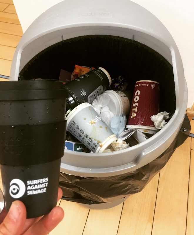 """SAS welcome call for """"latte levy"""" on coffee cups"""