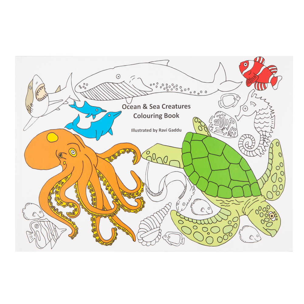 Ocean and Sea Creatures Colouring Book • Surfers Against Sewage