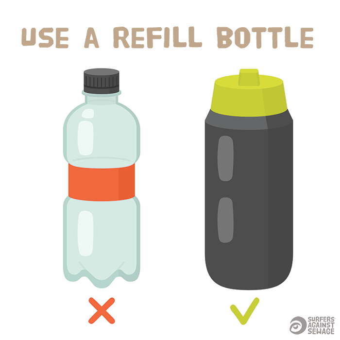 Use a refill bottle