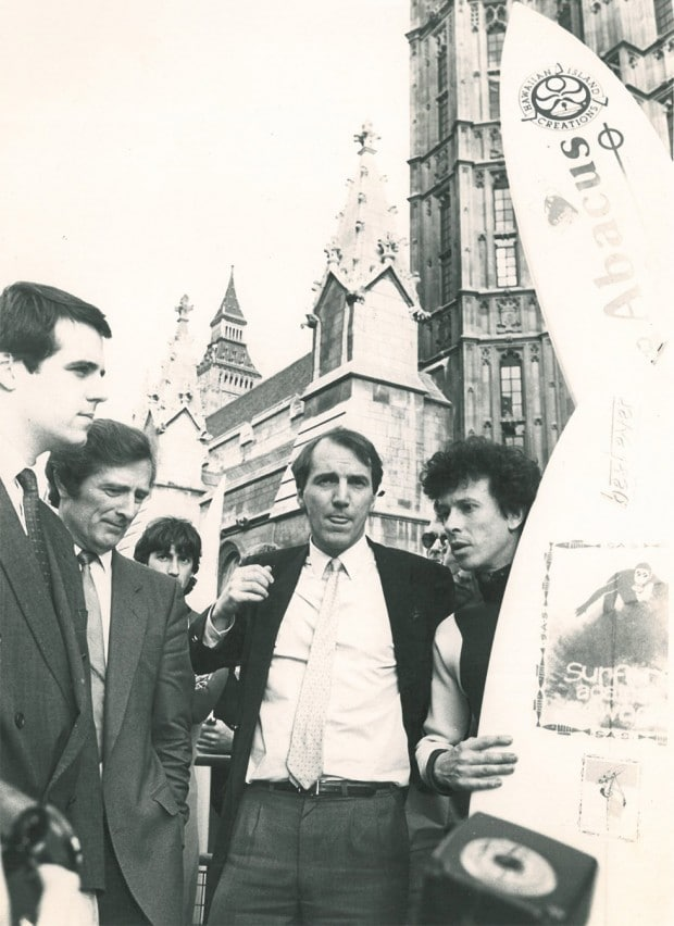 Chris Hines MBE (second right) on the campaign trail in London.