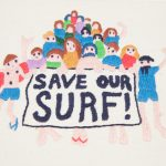 Save our Surf – Framed Embroidery
