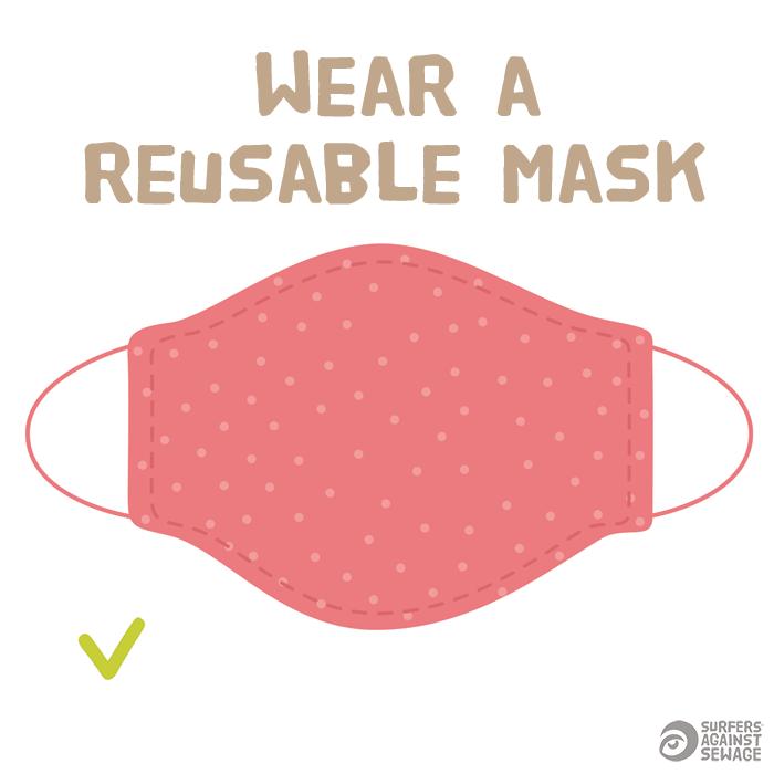 Wear a reusable mask
